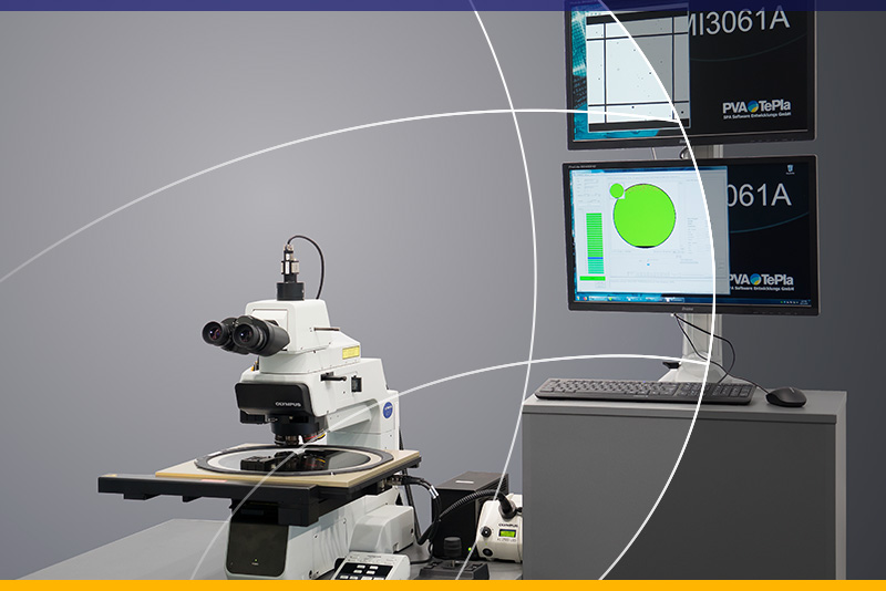 Automatic or manual visual microscope for wafer inspection (MIx)