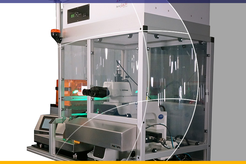 Automatic or manual visual microscope for wafer inspection up to 200mm