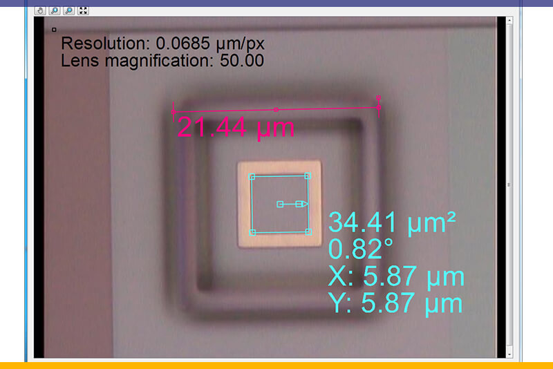 measurement tool on 2D camera images